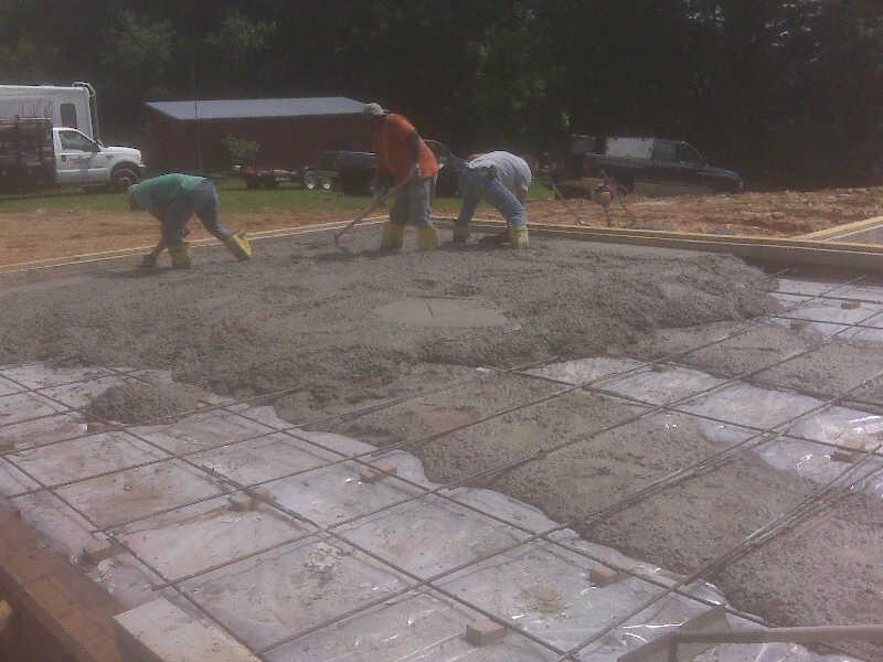 Starting the Garage Pour