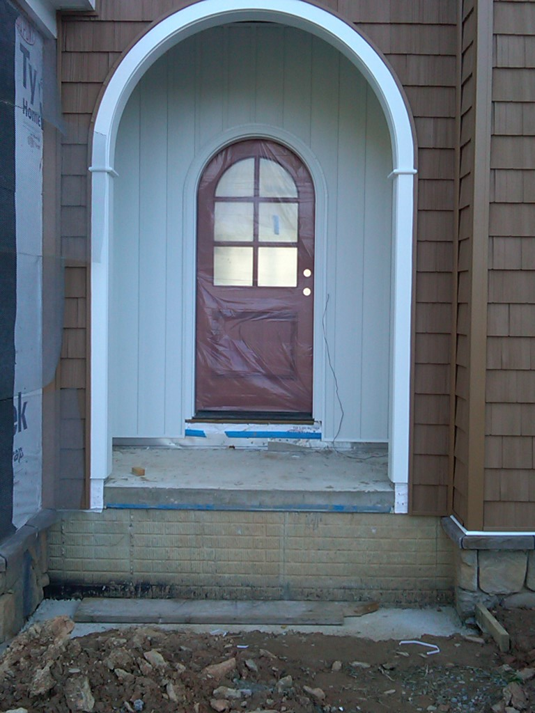 Stained Front Door