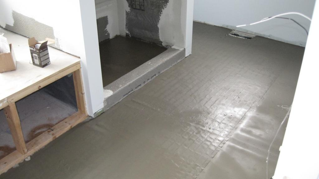 Heated Master Bath Floor